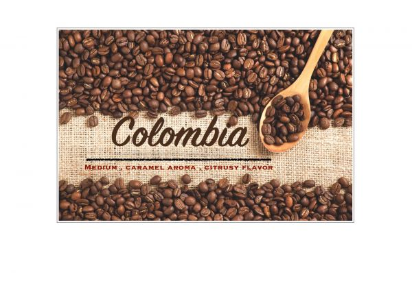 Colombia Supremo Coffee Bean Penang, Malaysia, Bukit Mertajam Supplier, Suppliers, Supply, Supplies | Casey Roastery Coffee