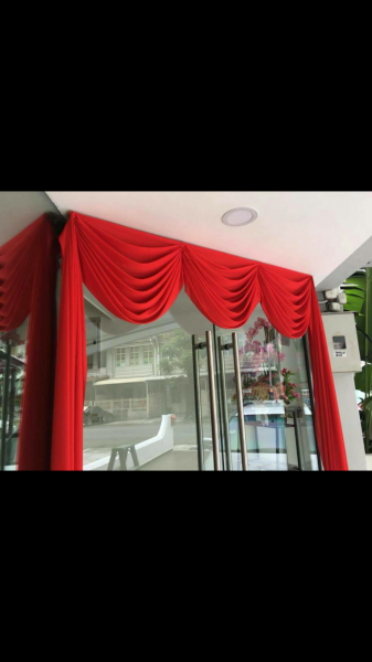 Ready Stock for Red Cloth Door Curtain (Ang Chai)  Ang Chai Penang, Malaysia, Ayer Itam Supplier, Supply, Supplies, Installation | YK Curtain