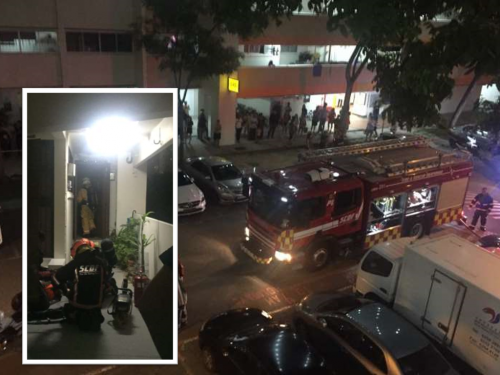 Fire involving laptop charger breaks out in Tampines flat 3 May 2017