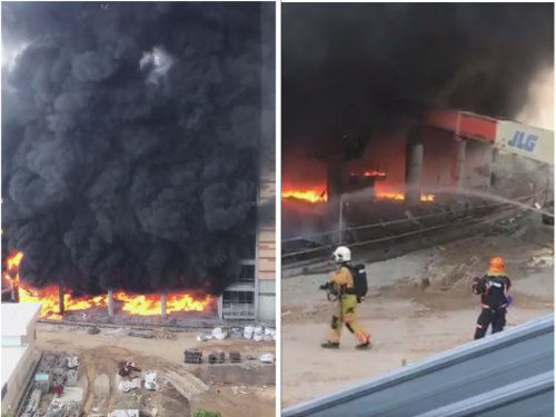 Fire broke out at the construction site of Global Indian International School