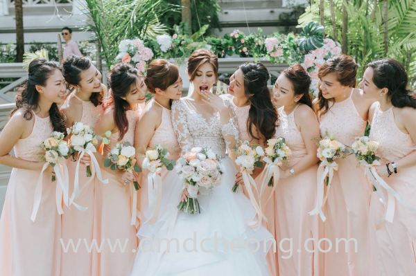 Kim's Wedding Bridal Actual Day and Lunch/Night Singapore Service | Amanda Cheong Make Up Artist