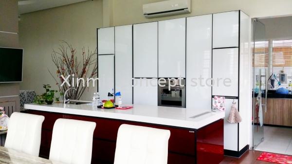 Aluminium kitchen cabinet - Serdang I-Shape kitchen design Aluminium kitchen cabinet Selangor, Malaysia, Melaka, Kuala Lumpur (KL), Petaling Jaya (PJ), Malim Jaya Supplier, Supply, Design, Services | XINMIS CONCEPT STORE