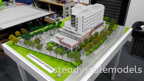 Kuang Specialist Hospital Kuala Lumpur (KL), Malaysia, Selangor, Kepong Architectural, Building, Model   Steady Scale Models