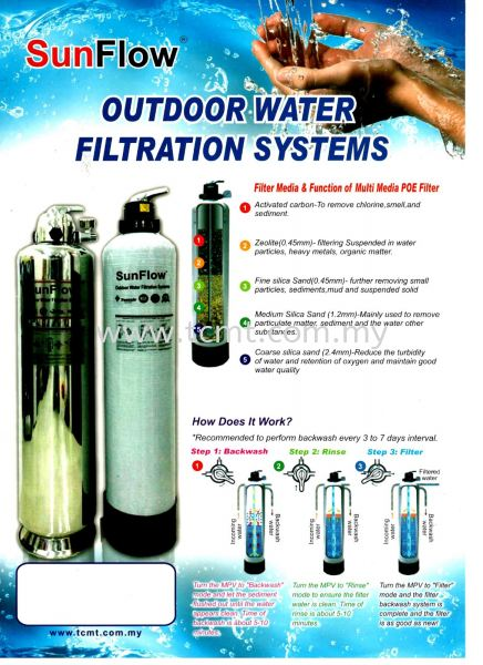SM Series SM Series SunFlow Domestic Sand Filter Outdoor Filter Malaysia Johor Bahru JB Supply Suppliers | TC Marketing & Trading