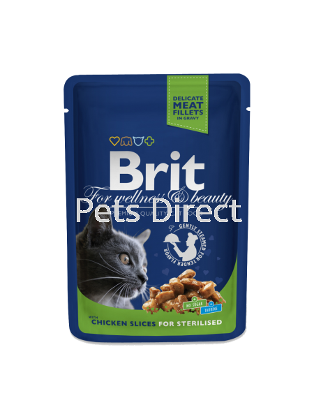 Brit Premium Chicken Slices For Sterilised 100g Brit Premium Cat Pouch (Wet Food) Selangor, Malaysia, Kuala Lumpur (KL), Klang, Shah Alam, Petaling Jaya (PJ) Supplier, Suppliers, Supply, Supplies | Pets Direct
