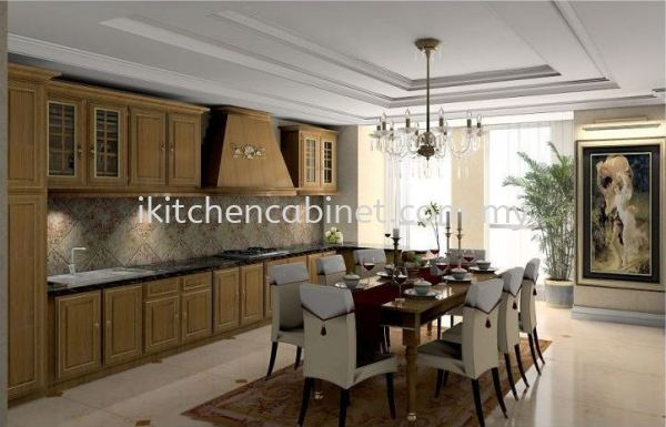 C7 每 Kitchen Cabinet With Solid Oak Door Classic Series Kitchen Cabinets Selangor, Malaysia, Kuala Lumpur (KL), Puchong Supplier, Suppliers, Supply, Supplies   i-Kitchen Cabinet Sdn Bhd