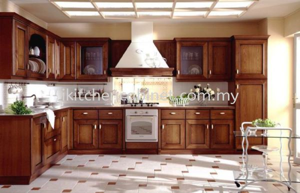 C8 每 Kitchen Cabinet With Solid Nyatoh Door Classic Series Kitchen Cabinets Selangor, Malaysia, Kuala Lumpur (KL), Puchong Supplier, Suppliers, Supply, Supplies   i-Kitchen Cabinet Sdn Bhd