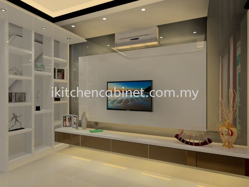 TV2 - TV Cabinet with display shelf Television Consoles Selangor, Malaysia, Kuala Lumpur (KL), Puchong Supplier, Suppliers, Supply, Supplies | i-Kitchen Cabinet Sdn Bhd
