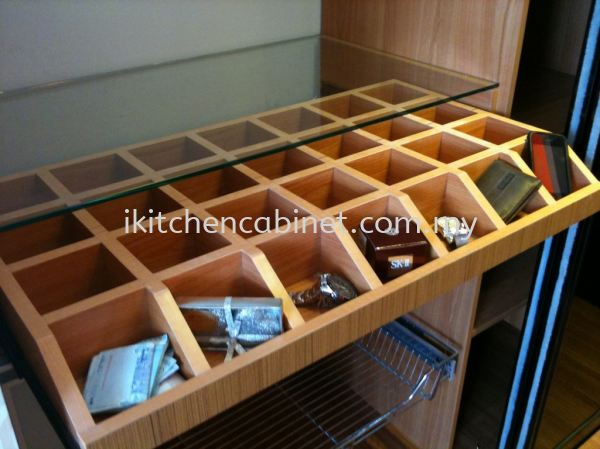 WA1 - Compartment Drawer With Glass Top Wardrobe Accessories  Kitchen & Wardrobe Accessories Selangor, Malaysia, Kuala Lumpur (KL), Puchong Supplier, Suppliers, Supply, Supplies | i-Kitchen Cabinet Sdn Bhd