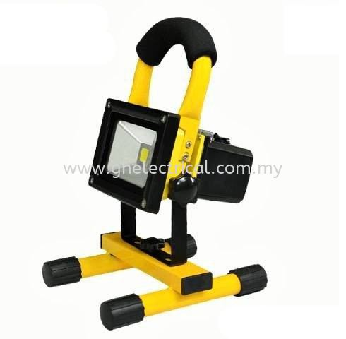 10W LED Rechargeable Floodlight Others LED Lighting Kuala Lumpur (KL), Malaysia Supply, Supplier | G&H Electrical Trading Sdn Bhd