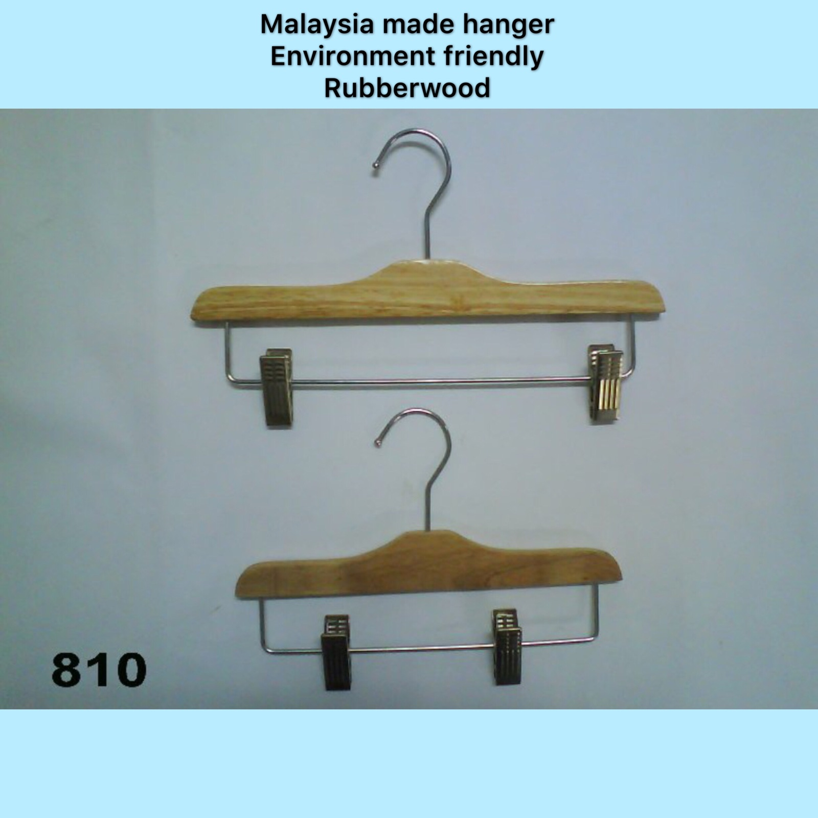 Model: 3022 (Black) Hanger With Clip