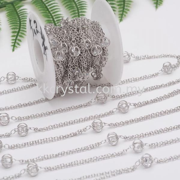 Extension Zircon, Code 36#, White Gold Platting, 1 meter/pack Chain, Extension  Jewelry Findings, White Gold Plating Kuala Lumpur (KL), Malaysia, Selangor, Klang, Kepong Wholesaler, Supplier, Supply, Supplies | K&K Crystal Sdn Bhd