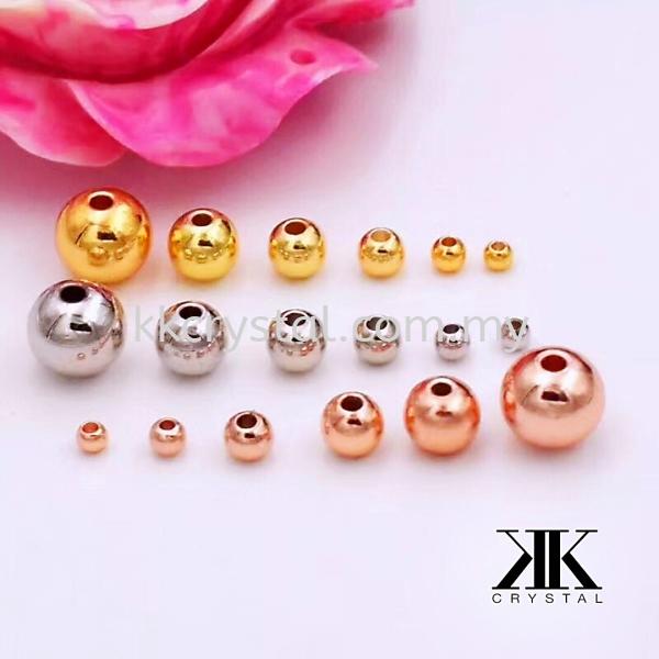 Plain Ball, 6mm, White Gold Plating, 20pcs/pkt Metal Beads  Jewelry Findings, White Gold Plating Kuala Lumpur (KL), Malaysia, Selangor, Klang, Kepong Wholesaler, Supplier, Supply, Supplies   K&K Crystal Sdn Bhd