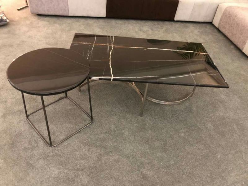 Black Marble Coffee Table - St. Laurent Marble Marble Coffee Table Selangor, Kuala Lumpur (KL), Malaysia Supplier, Suppliers, Supply, Supplies | DeCasa Marble Sdn Bhd