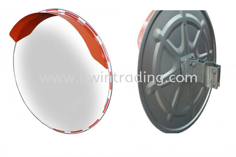 Outdoor Stainless Steel Convex Mirror c/w Bracket