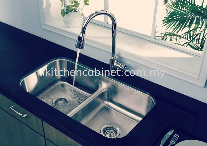 KA9 - Double bowl s/steel sink and water tap Kitchen Accessories Kitchen & Wardrobe Accessories Selangor, Malaysia, Kuala Lumpur (KL), Puchong Supplier, Suppliers, Supply, Supplies   i-Kitchen Cabinet Sdn Bhd