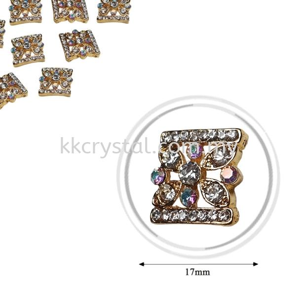 Fashion Rhinestone Diverter, S1027 Gold Crystal AB 17mm, 4pcs/pkt (BUY 1 GET 1 FREE) Fashion Rhinestone Diverter  Jewelry Findings Kuala Lumpur (KL), Malaysia, Selangor, Klang, Kepong Wholesaler, Supplier, Supply, Supplies | K&K Crystal Sdn Bhd