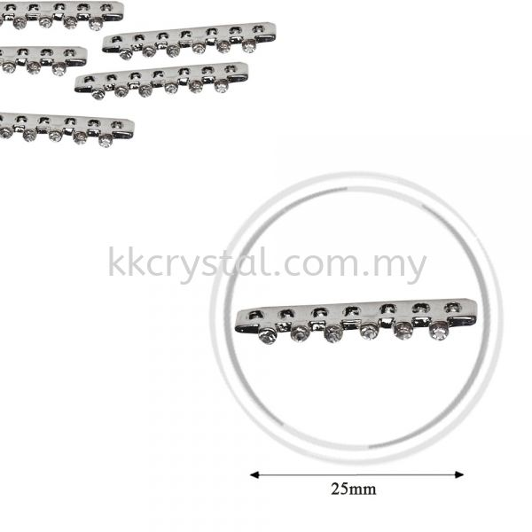 Fashion Rhinestone Diverter, S5570 Silver White 28mm, 10pcs/pkt (BUY 1 GET 1 FREE) Fashion Rhinestone Diverter  Jewelry Findings Kuala Lumpur (KL), Malaysia, Selangor, Klang, Kepong Wholesaler, Supplier, Supply, Supplies | K&K Crystal Sdn Bhd