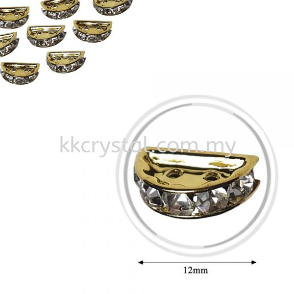 Fashion Rhinestone Diverter, S2910 Gold Crystal 12mm, 10pcs/pkt (BUY 1 GET 1 FREE) Fashion Rhinestone Diverter  Jewelry Findings Kuala Lumpur (KL), Malaysia, Selangor, Klang, Kepong Wholesaler, Supplier, Supply, Supplies | K&K Crystal Sdn Bhd