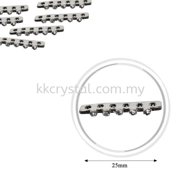 Fashion Rhinestone Diverter, S3960 Silver White 25mm, 10pcs/pkt (BUY 1 GET 1 FREE) Fashion Rhinestone Diverter  Jewelry Findings Kuala Lumpur (KL), Malaysia, Selangor, Klang, Kepong Wholesaler, Supplier, Supply, Supplies | K&K Crystal Sdn Bhd
