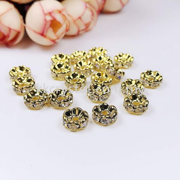 Seperator Rondelle, Curve, 8mm, Gold Plating, 20pcs/pkt Spacer, Rondelle  Jewelry Findings Kuala Lumpur (KL), Malaysia, Selangor, Klang, Kepong Wholesaler, Supplier, Supply, Supplies   K&K Crystal Sdn Bhd