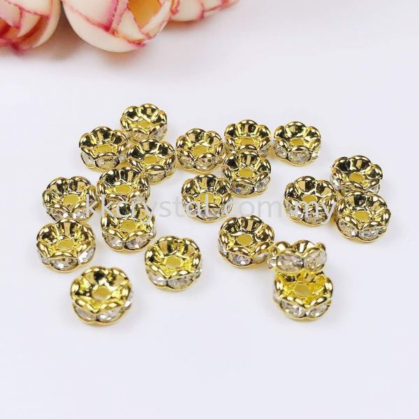Seperator Rondelle, Curve, 7mm, Gold Plating, 20pcs/pkt Spacer, Rondelle  Jewelry Findings Kuala Lumpur (KL), Malaysia, Selangor, Klang, Kepong Wholesaler, Supplier, Supply, Supplies   K&K Crystal Sdn Bhd