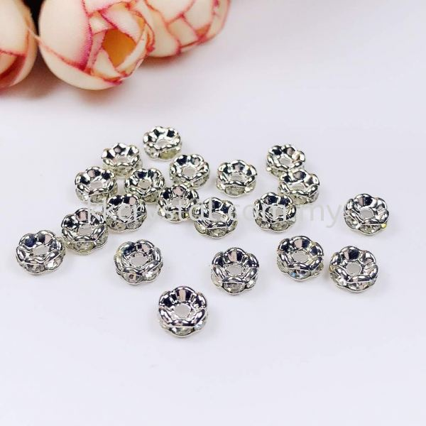 Seperator Rondelle, Curve, 6mm, Silver Plating, 20pcs/pkt Spacer, Rondelle  Jewelry Findings Kuala Lumpur (KL), Malaysia, Selangor, Klang, Kepong Wholesaler, Supplier, Supply, Supplies | K&K Crystal Sdn Bhd