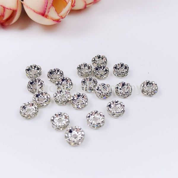 Seperator Rondelle, Curve, 5mm, Silver Plating, 20pcs/pkt Spacer, Rondelle  Jewelry Findings Kuala Lumpur (KL), Malaysia, Selangor, Klang, Kepong Wholesaler, Supplier, Supply, Supplies | K&K Crystal Sdn Bhd