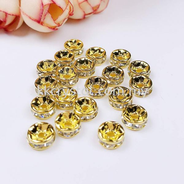 Seperator Rondelle, 8mm, Gold Plating, 20pcs/pkt Spacer, Rondelle  Jewelry Findings Kuala Lumpur (KL), Malaysia, Selangor, Klang, Kepong Wholesaler, Supplier, Supply, Supplies   K&K Crystal Sdn Bhd