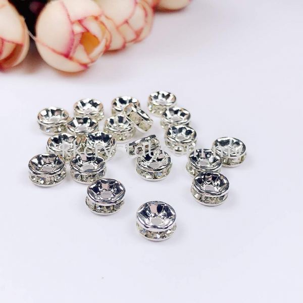Seperator Rondelle, 7mm, Silver Plating, 20pcs/pkt Spacer, Rondelle  Jewelry Findings Kuala Lumpur (KL), Malaysia, Selangor, Klang, Kepong Wholesaler, Supplier, Supply, Supplies | K&K Crystal Sdn Bhd