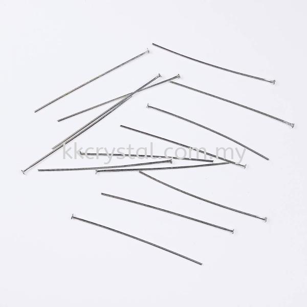 Head Pin, 08x50mm, Plated Headpins, Eyepins  Jewelry Findings Kuala Lumpur (KL), Malaysia, Selangor, Klang, Kepong Wholesaler, Supplier, Supply, Supplies | K&K Crystal Sdn Bhd