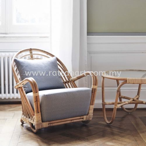 RATTAN SOFA SEA SHELL - 1 SEATER
