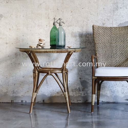 RATTAN DINING TABLE SIMPLE