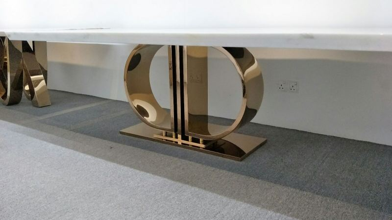 Modern Dining Table Base - Staineless Steel Rose Gold Marble Dining Table Selangor, Kuala Lumpur (KL), Malaysia Supplier, Suppliers, Supply, Supplies | DeCasa Marble Sdn Bhd