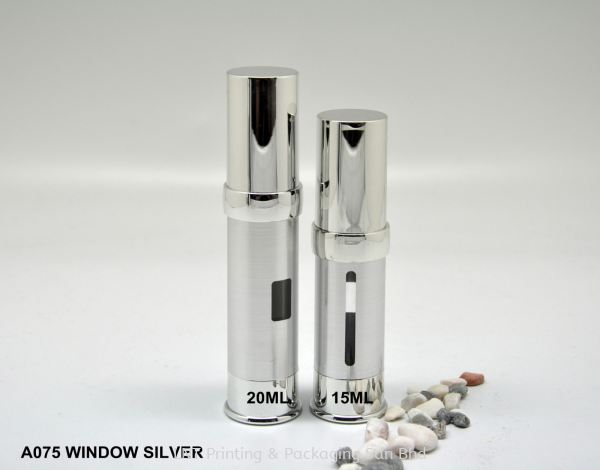 A075 WINDOW SILVER AIRLESS BOTTLE Airless Bottle Airless bottle & Jar Penang, Malaysia, Bukit Mertajam Supplier, Services, Supply, Supplies | LNT Printing & Packaging Sdn Bhd