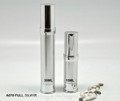 A076 FULL SILVER AIRLESS BOTTLE