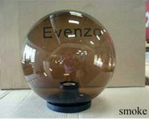 SMOKE GLOBE LIGHT E27 POST TOP