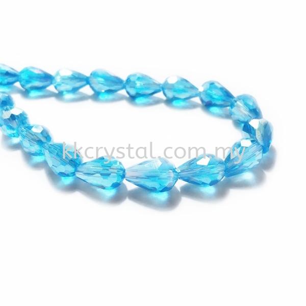 Crystal China, Teardrop 08mm, B53 Aquamarine AB Teardrop 08mm Beads Kuala Lumpur (KL), Malaysia, Selangor, Klang, Kepong Wholesaler, Supplier, Supply, Supplies | K&K Crystal Sdn Bhd