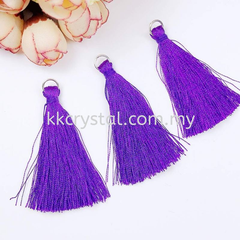 Tassel, Code 03#, Color 19#, 5.5cm,  Tanzanite, 10pcs/pack