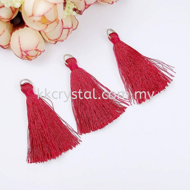 Tassel, Code 03#, Color 9#, 5.5cm,  Siam Red, 10pcs/pack