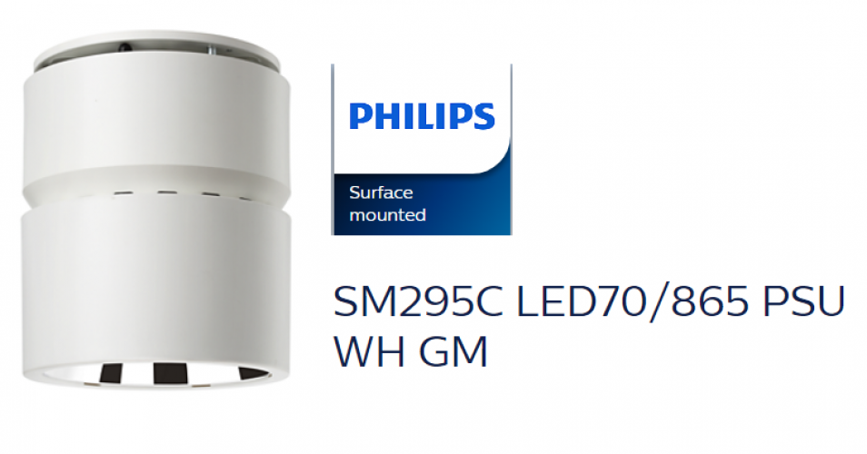 PHILIPS SM295C LED70/865 PSU WH GM SURFACE MILO