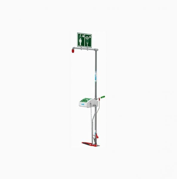 Spill Station Free Standing Combination Shower with Closed ABS Bowl Eye Face Wash Emergency Shower & Eyewash Emergency Response, Eyewash & Shower Selangor, Malaysia, Kuala Lumpur (KL), Shah Alam Supplier, Suppliers, Supply, Supplies | Safety Solutions (M) Sdn Bhd