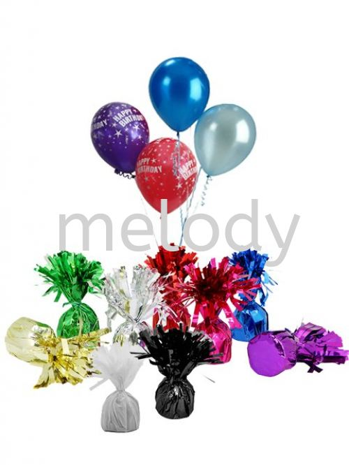 BALLOON WEIGHTS FOIL TINSEL