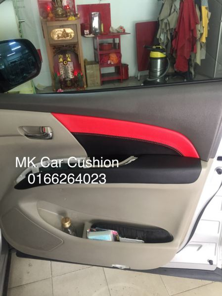 TOYOTA ESTIMA ACR 50 SUPER LEATHER SEAT COVER & DOOR PANEL, CPS DESIGN BLACK & RED, 3 YEARS WARRANTY DOOR PANEL Car Cushion Malaysia, Kuala Lumpur (KL), Selangor Manufacturer, Supplier, Supplies | MK Car Cushion Specialist Sdn Bhd