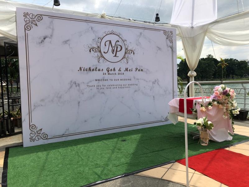 Wedding Backdrop Backdrop / Photobooth  Kuala Lumpur (KL), Selangor, Malaysia Printing, Service | Dotz Printing Services