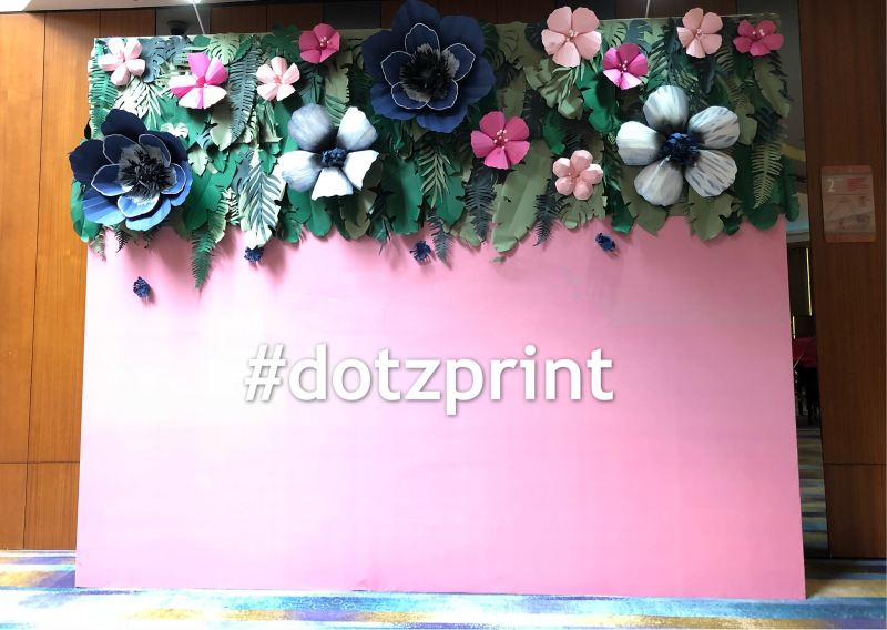 Paper Flower Backdrop  Backdrop / Photobooth  Kuala Lumpur (KL), Selangor, Malaysia Printing, Service | Dotz Printing Services
