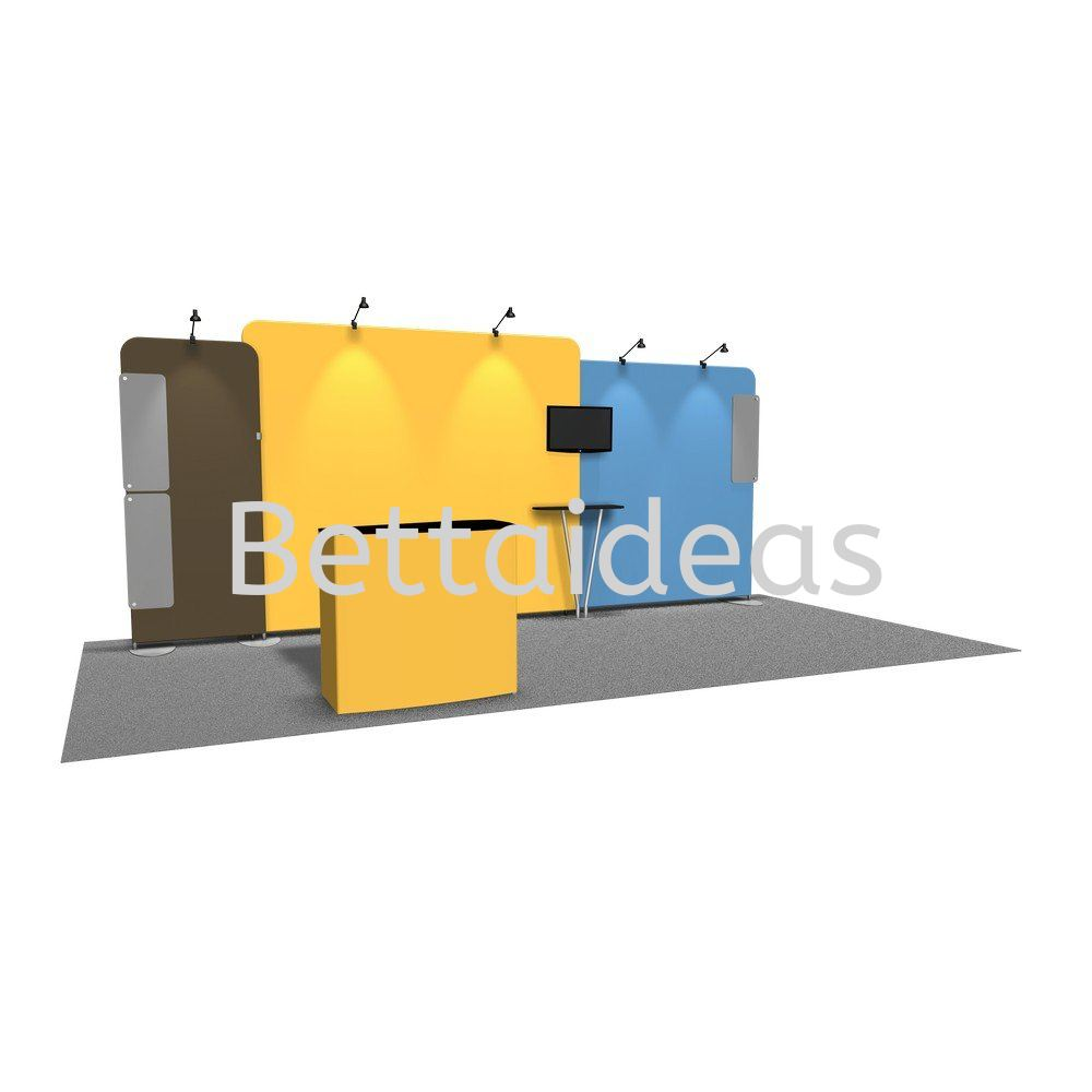 TF_SET A - 20FT 6x3 Booth Size Tension Fabric Customize Booth Setup Tension Fabric Display Malaysia, Selangor, Kuala Lumpur (KL), Petaling Jaya (PJ) Supplier, Suppliers, Supply, Supplies | Bettaideas Sdn Bhd