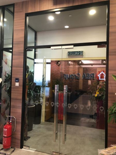 Powder Coated Aluminum Shop Front Frame C/W Tempered Glass Aluminium Glass Door Kuala Lumpur (KL), Cheras, Selangor, Malaysia Contractor, Supplier, Supply, Supplies | SV Interior Sdn Bhd