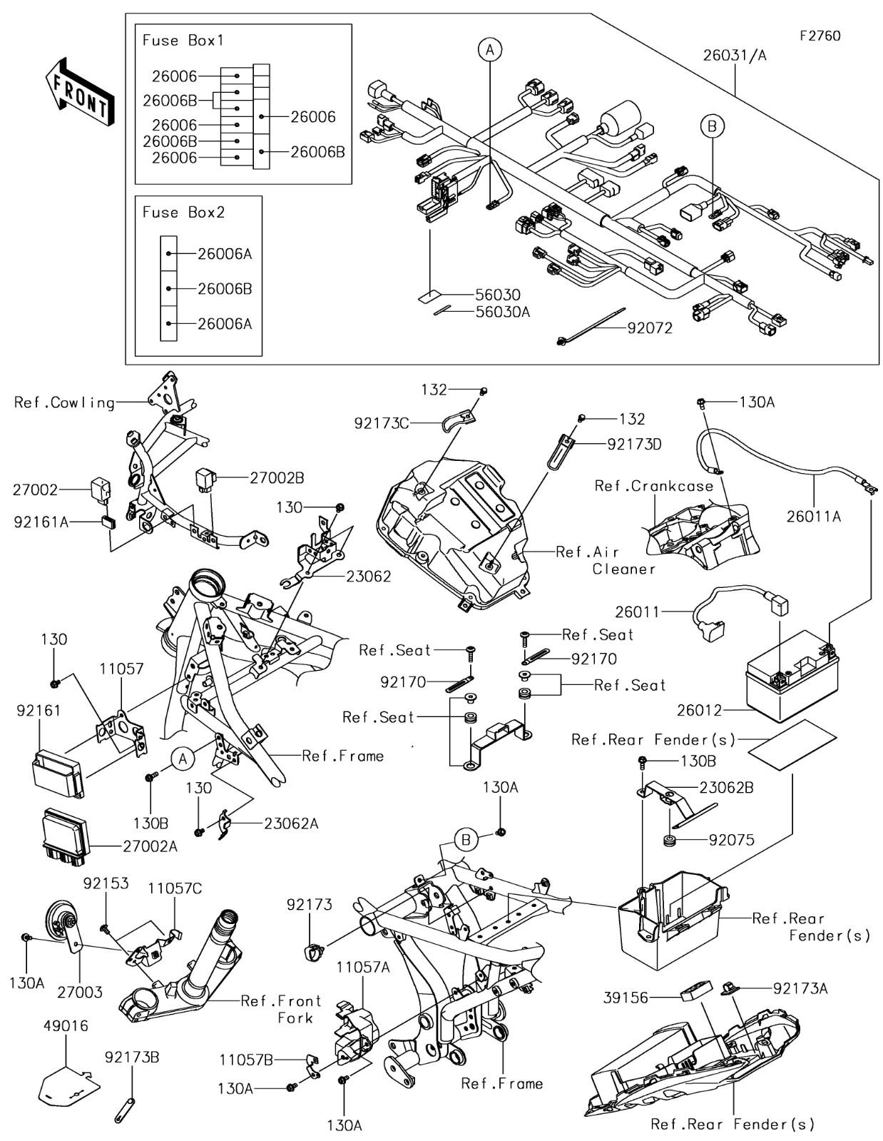 Chassis Electrical Equipment Ninja 650 2017 Parts Diagrams Kawasaki