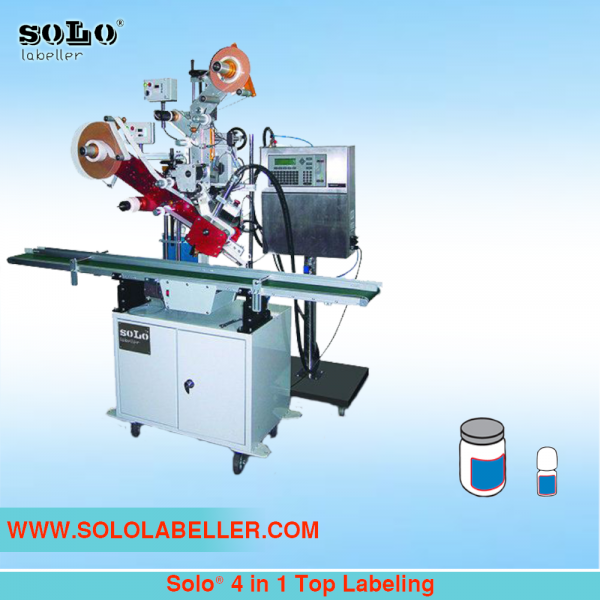 Four(4) in One(1) Top Labeling Machine (Customized Machine) Customized Labelling Selangor, Malaysia, Kuala Lumpur (KL), Puchong Machine, Manufacturer, Supplier, Supply | Solo Labelling Sdn Bhd